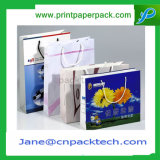 Bolso de compras de encargo del portador de papel de los bolsos de las ilustraciones de la impresión de la manera