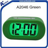 Reloj del calendario de la alarma de Digitaces con tacto del silicio