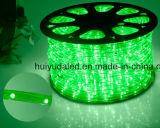 Luz de la cuerda del LED/luz de tira al aire libre de Light/LED/luz de neón/luz de la Navidad/luz del día de fiesta/luz del hotel/tira ligera del color rojo 25LEDs el 1.6W/M LED de los alambres del redondo dos de la barra