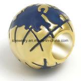 금 도금 은 보석 지구 구슬