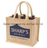 La grande iuta riutilizzabile ecologica di alta qualità stampata abitudine promozionale trasporta i sacchetti