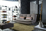 Обитое Sofabed с ногами крома металла в конструкции Morden