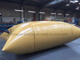 el tanque de agua del PVC 1200GSM con color amarillo