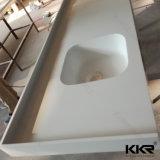 Bancada Prefab da cozinha da pedra de quartzo do tamanho feito sob encomenda