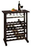 A noz de madeira feita sob encomenda do gabinete do vinho inclui a gaveta com prateleira de vidro