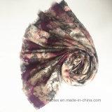 Sciarpa del poliestere stampata Flourish di modo con la pietra di cristallo (HM099)