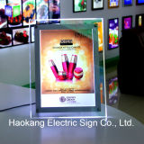 White Color Acrylic Menu Board Light Box para Table Tand Sign Holder