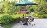 De Rotan van het terras en Rieten Stoel en Eettafel voor het Leven van de Luxe