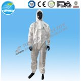 Coverall Nonwoven ткани PP/SMS/PP+PE защитный