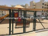 電流を通されたチェーン・リンクの塀/PVCの上塗を施してあるチェーン・リンクの塀