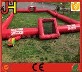 Campo di football americano gonfiabile rosso di nuovo disegno per il gioco di sport