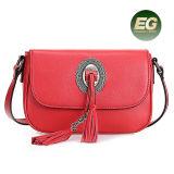 여자 Emg4914를 위한 술 훈장 Crossbody 어깨에 매는 가방을%s 가진 가장 새로운 디자인 진짜 가죽 핸드백