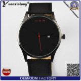 Relógio mecânico do negócio luxuoso do relógio de pulso de quartzo da tâmara do cronógrafo do Mvmt do relógio de Mens do couro genuíno da forma Yxl-378