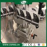 Machine à étiquettes de collant adhésif automatique avec deux têtes d'étiquettes