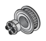 Aluminium 1045 De Katrol van de Timing van Keyless van het Koolstofstaal - S5m