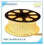 ETLの承認のSMD2835 120LED/M IP65 LEDロープライト