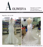 Chegada nova mais o vestido de casamento do tamanho com brilho da garganta
