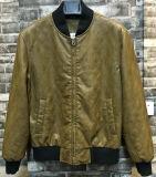 Куртка PU бомбардировщика человека выстеганная диамантом кожаный