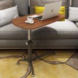 Tableau se pliant portatif de stand d'ordinateur portatif de meubles à la maison avec le dessus de table en bois pour l'ordinateur