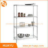 4棚Chrome Metal Display Steel Storage Wire Mesh Rack