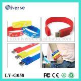 Bastoni promozionali del USB delle azione del silicone di stile del braccialetto del regalo di vendita calda
