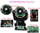 Luz principal movente do diodo emissor de luz do PRO zoom do quadrilátero 7PCS 40W da iluminação do estágio