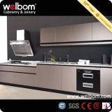Frigorífico grande de alta laca brillante Negro del gabinete de cocina