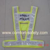 Tráfico del LED que advierte el chaleco de la seguridad de la alta visibilidad que destella