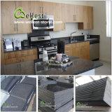 Azulejo negro/gris de la losa de las escaleras de la pared del suelo del granito