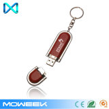 Atacado Branded Leather USB Flash Drives com chaveiros