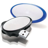 USB oval da forma que gira a movimentação oval do flash do USB