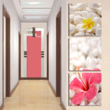 ホーム装飾のキャンバスを塗る3つのパネルの壁の芸術の油絵の花は居間によって組み立てられる芸術Mc263のための映像を印刷する
