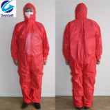 Устранимый Nonwoven Coverall используемый для промышленного защитного доказательства пыли