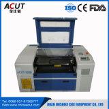 Mini machine de découpage acrylique de gravure de commande numérique par ordinateur de laser de papier/tissu