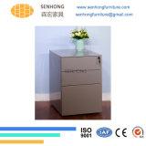 Шкаф для картотеки постамента металла офиса подвижной с ящиками