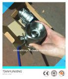 Valvola a sfera filettata leva dell'acciaio inossidabile 2PC della mano (BSPT)