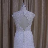 Платье венчания 2016 полного шнурка высокого качества 5665 безрукавный шикарное