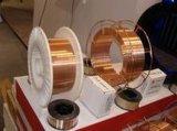 Alambre de soldadura revestido de cobre al acero suave del CO2 de Consumbles Er70s-6 de la soldadura