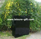 Potenciômetros de flor pretos ao ar livre da fibra de vidro do jardim Fo-277