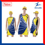 Vestido cheio do Netball das senhoras do Sublimation da forma de Healong Sportwear