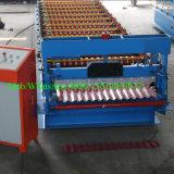 Gewölbtes Metalldach-Blatt, das Maschine herstellt