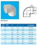 Standard del gomito ASTM D2466 del PVC 90deg per l'acqua del rifornimento con il certificato del NSF