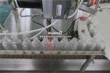 Жидкость e и машина бутылки капельницы стекла заполняя покрывая