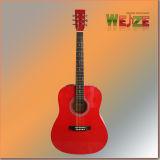 Toda la guitarra acústica de la madera contrachapada de Linder