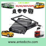 4CH gravador de vídeo de Digitas do cartão do carro DVR SD com GPS para o sistema de vigilância do vídeo do CCTV