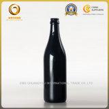 Bouteilles à bière en verre brillantes du noir 500ml de Chuangyou (122)