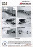 Wheelbarrow modelo americano Wb6202 com punho de madeira