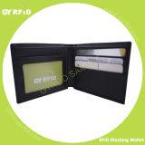 De anti Magnetische Houder van de Kaart van de Portefeuille van de Bescherming van de Informatie van de Portefeuille RFID van het Leer RFID van het AntiAftasten Anti-diefstal Blokkerende