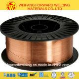 Sg2 15kg/Spool 1.2mmの銅の二酸化炭素のガスの盾が付いている上塗を施してある固体はんだEr70s-6ミグ溶接ワイヤー