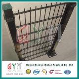 Проволочная изгородь PVC высокого качества Coated плоская двойная/твиновская панель ячеистой сети